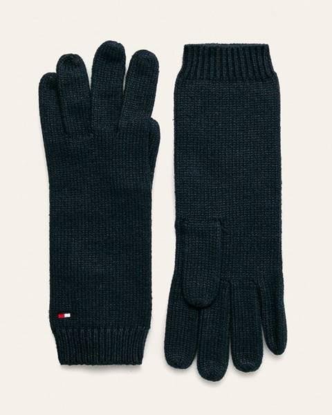 Tmavomodré rukavice Tommy Hilfiger