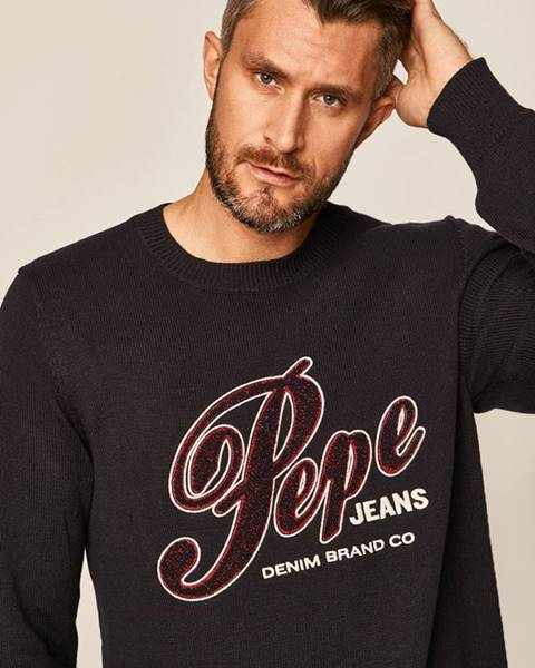 Tmavomodrý sveter Pepe jeans