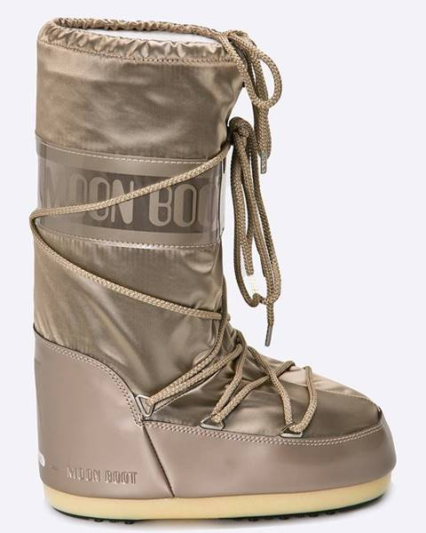 Béžové zimná obuv Moon Boot