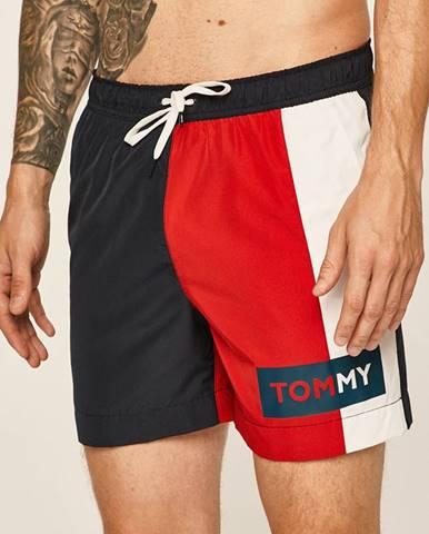 Tmavomodré plavky Tommy Hilfiger