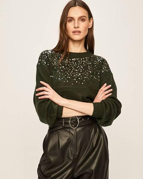 Zelený sveter Jacqueline de Yong