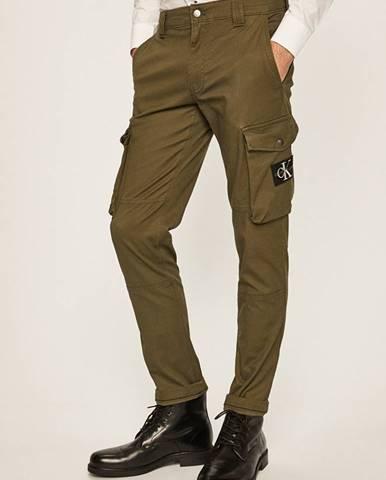 Zelené nohavice Calvin Klein Jeans