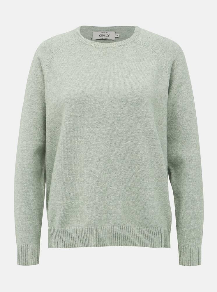 Only Svetlozelený basic sveter ONLY Lesly