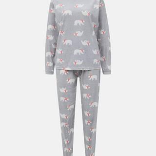 Šedé vzorované pyžamo M&Co