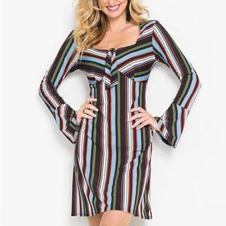 Džersejové šaty s pásikovaným vzorom