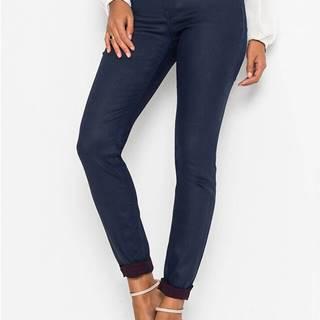 Strečové nohavice s vrstvením