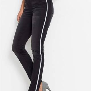 Strečové džínsy s pásikmi
