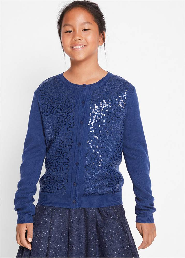 bonprix Pletený sveter s flitrami