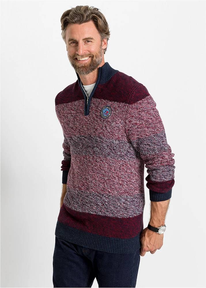 bonprix Melírovaný pulóver