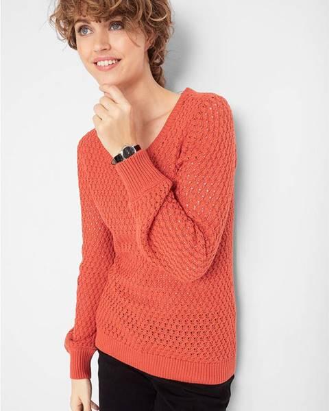 Červený sveter bonprix