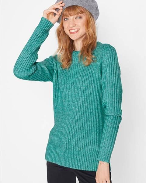 Zelený pulóver bonprix