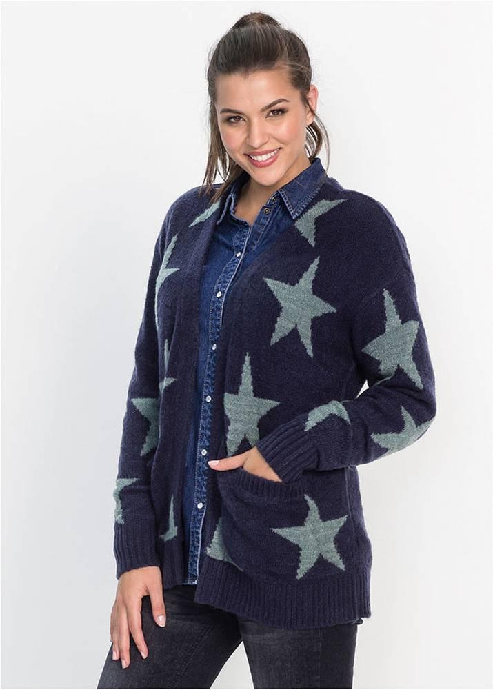 bonprix Žakárový sveter, bez zapínania