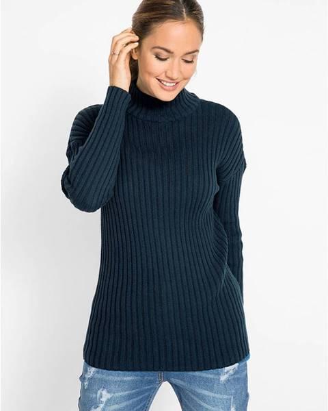 Modrý pulóver bonprix