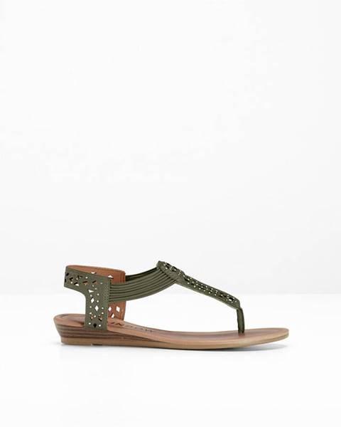 Zelené sandále bonprix