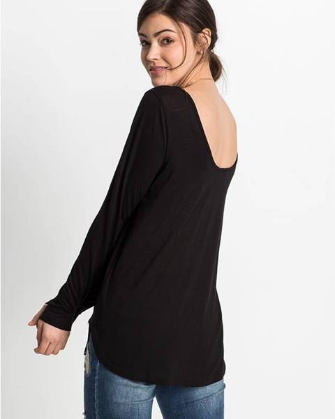 bonprix Tričko s dlhým rukávom, hlboký výstrih na chrbte