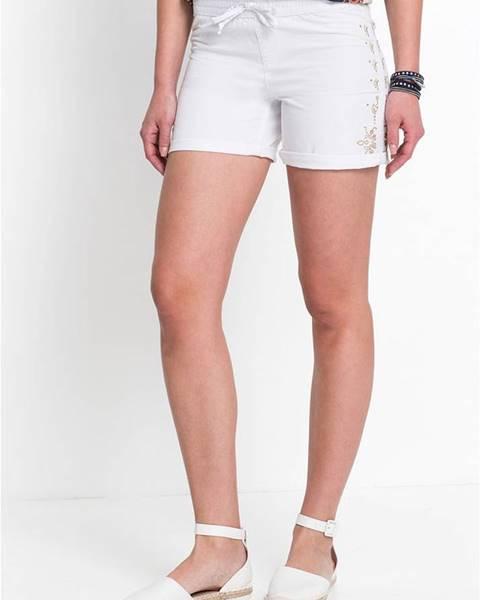 Biele šortky bonprix