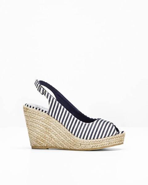 Modré sandále bonprix