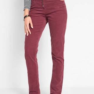 Strečové nohavice s gombíkovou légou
