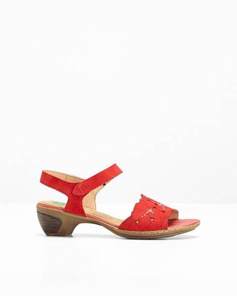 Červené sandále bonprix