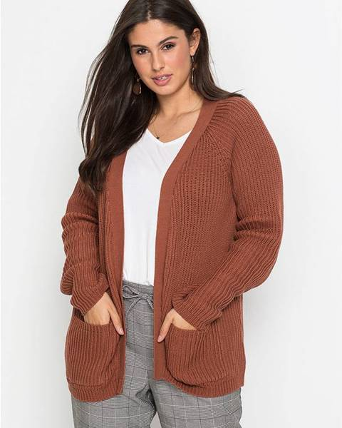 Hnedý sveter bonprix
