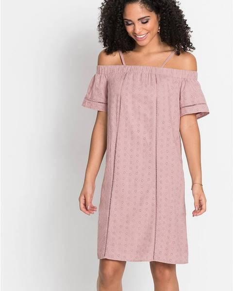 Ružové letné šaty bonprix
