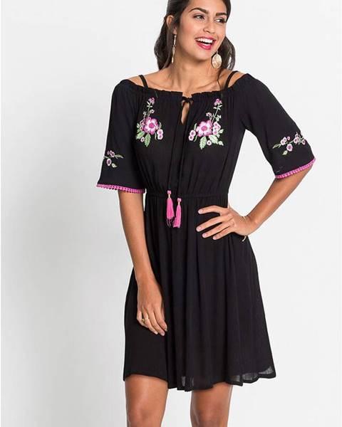 Čierne letné šaty bonprix