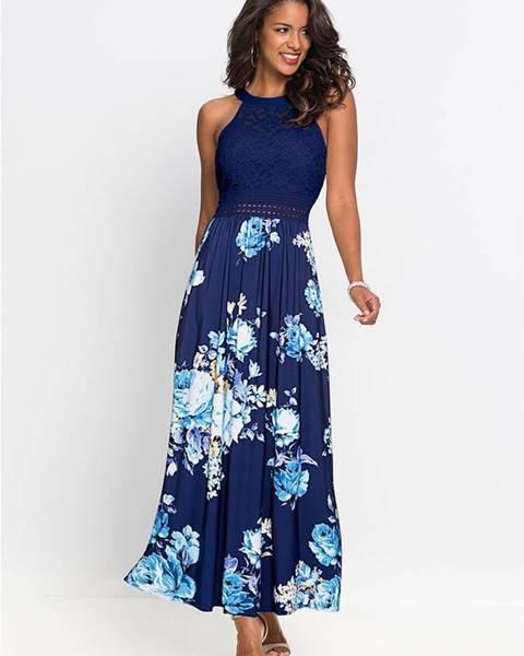 Modré letné šaty bonprix