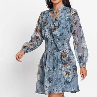 Šifónové šaty s nariasenou časťou