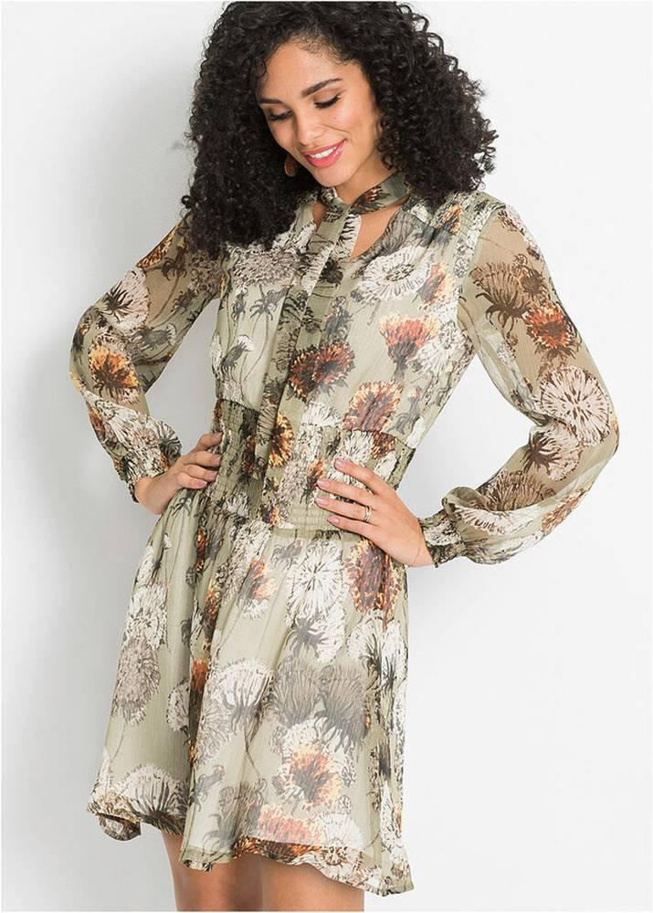 bonprix Šifónové šaty s nariasenou časťou