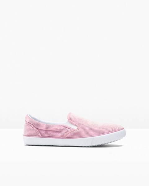 Ružové poltopánky bonprix