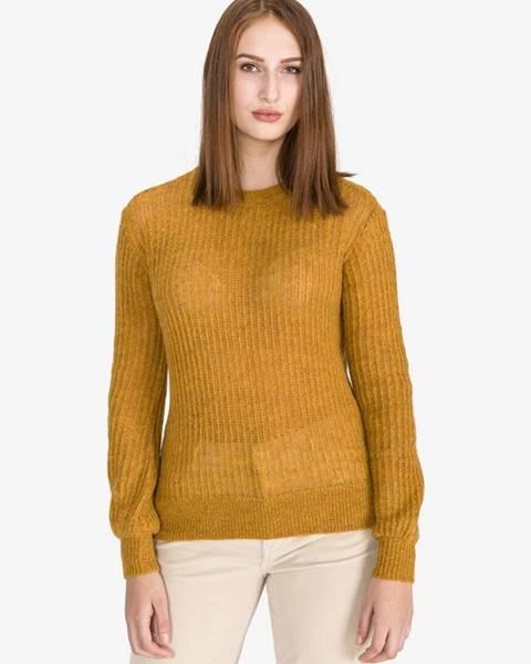 Žltý sveter s okrúhlym výstrihom Scotch & Soda