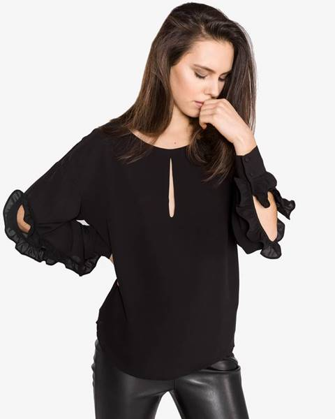 Čierna košeľa s dlhým rukávom Guess