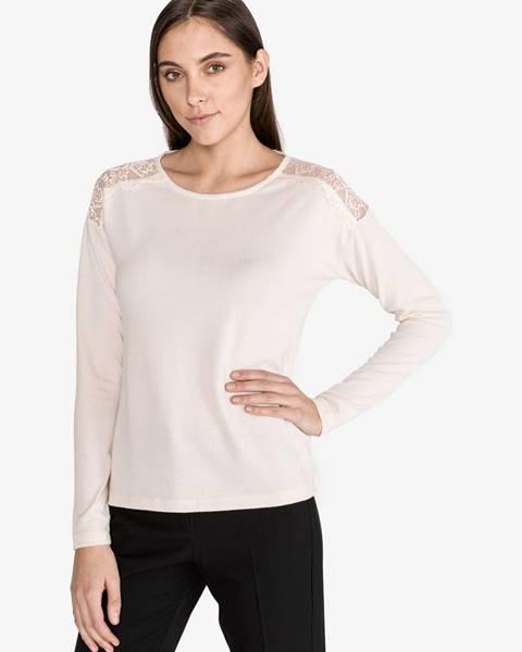 Béžový sveter s okrúhlym výstrihom Vero Moda
