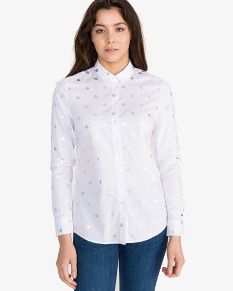 Biela košeľa na gombíky Tommy Hilfiger