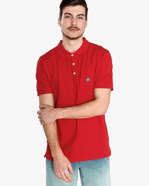 Červené tričko Franklin & Marshall