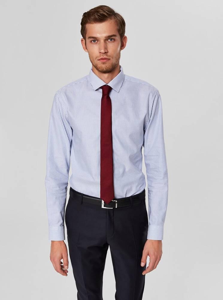 Selected Homme Svetlomodrá pruhovaná slim fit košeľa Selected Homme Mark