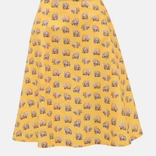 Žltá sukňa s motívom vombata annanemone