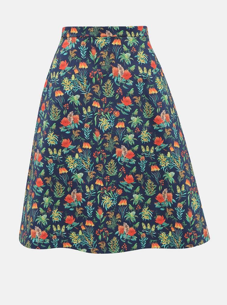 annanemone Tmavomodrá kvetovaná sukňa annanemone
