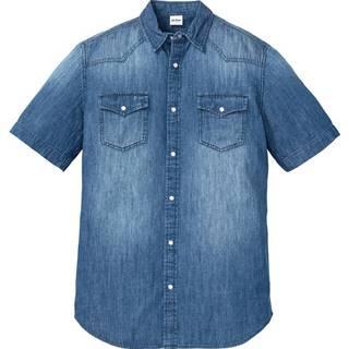 Džínsová košeľa, krátky rukáv