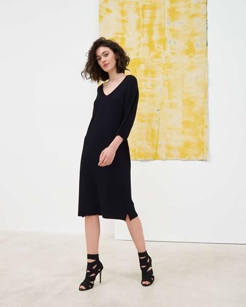 Čierne pletené šaty Pietro Filipi