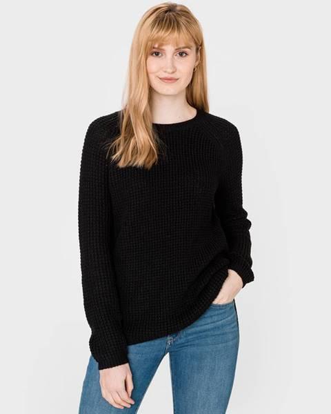 Čierny sveter s okrúhlym výstrihom Vero Moda