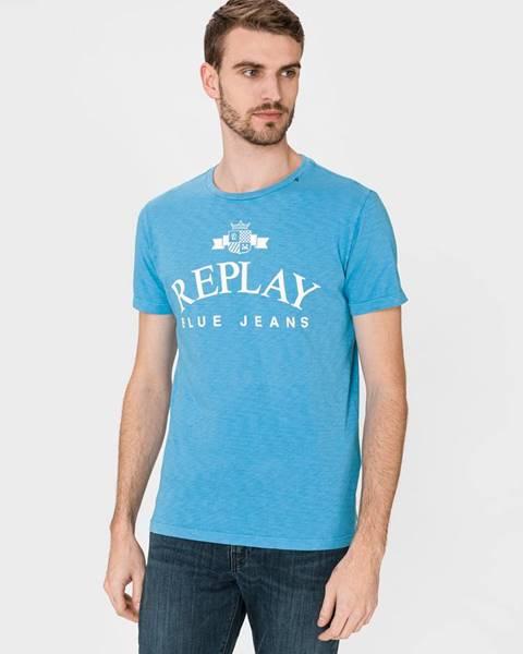 Modré tričko Replay