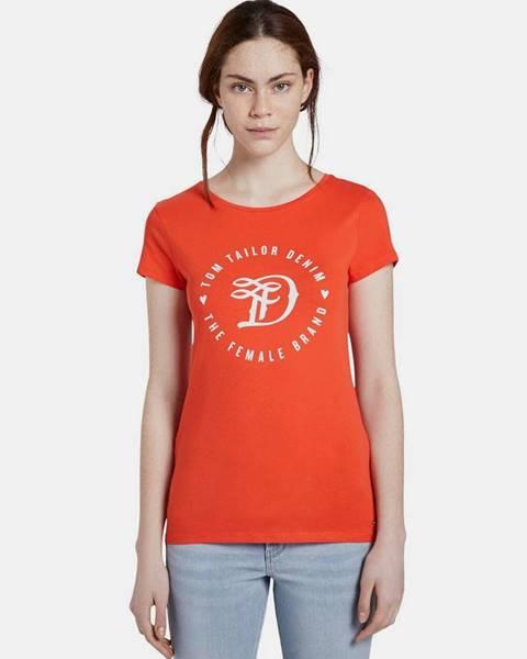 Červené tričko Tom Tailor Denim