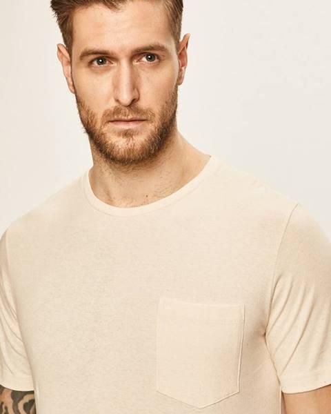 Béžové tričko Lee