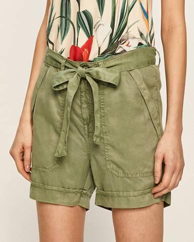 Zelené šortky Pepe jeans