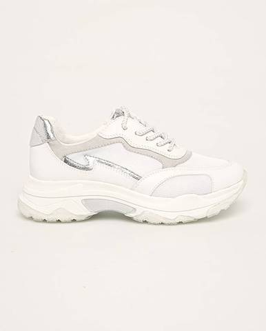 Biele topánky Marco Tozzi