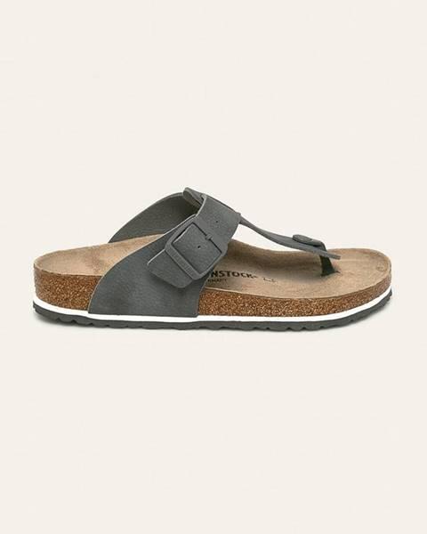 Sivé sandále Birkenstock