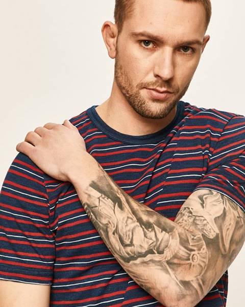 Tmavomodré tričko Premium by Jack&Jones