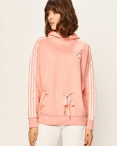 Ružová mikina s kapucňou adidas Originals