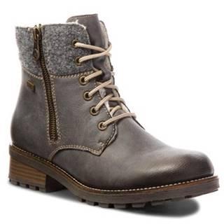 Šnurovacia obuv Rieker Z0441-45 filc,koža ekologická